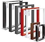 HOLZBRINK Tischkufen aus Vierkantprofilen 60x20 mm, Tischgestell 40x43 cm, Tiefschwarz, 1 Stück,...
