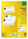 SIGEL DP839 Visitenkarten hochweiß, 150 Stück (15 Blatt), 85x55 mm, beidseitig bedruckbar und...