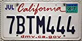 California Schild , Metallkennzeichen