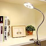 DLLT 6W LED Klemmlampe Bett USB Klemmleuchte Kinder, 360° flexibler Schwanenhals, 480LM, Leselampe...