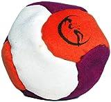 Profi Footbag 6 Paneelen (Lila/Orange/Weiß) Pro Freestyle Footbag! Hacky Sack für Anfänger und...