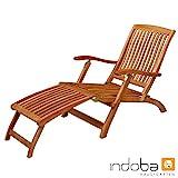 IND-70006-DC Deck Chair Sun Flair Liegestuhl Sonnenliege aus Holz ergonomisch geformt - 141 x 58 x...