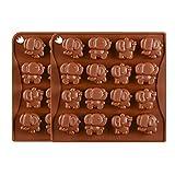 2 Stück Elefant Form Silikon Backform Kuchenform 16 Zellen Schokoladenform Pralinenform Für...