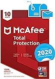 McAfee Total Protection 2020 | 10 Gerte | 1 Jahr | PC/Mac/Smartphone/Tablet | Aktivierungscode per...