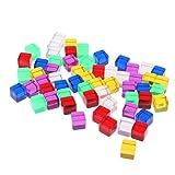 VANKOA 60Pcs Kunststoff Dice Blank Wrfel Blankowrfel Wrfel Blanko Zubehr fr Partyspiele, Tischspiele