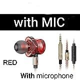 OIUY In-Ear-Ohrhörer mit Mikrofon 6 Dynamische Treibereinheit Headsets Stereo Sport HiFi Subwoofer...