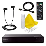 Sony BDP-S3700 Blu-Ray Disc Player mit integriertem Wi-Fi + Fernbedienung + High-Speed HDMI Kabel...