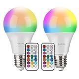 LED RGBW Lampe, OMERIL 10W Farbige Leuchtmittel E27 Fernbedienung mit Speicher- und Timerfunktion ,...