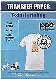PPD A4 x 20 Blatt PREMIUM Inkjet T-Shirt Transferpapier für Tintenstrahldrucker - Transparente...