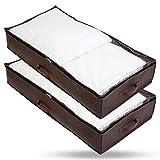 Bruce. ® 2 x Premium Unterbettkommoden I 90 Liter - 100 x 50 x 18 cm I Atmungsaktiv und Mottenfrei...