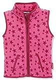 Playshoes Kinder Fleeceweste Allover Sterne Weste, Pink, 98