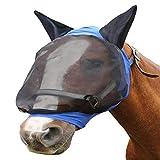 Danm Pferdefliege Maske mit Ohren - Komfort Schützt das Pferd vor Insekten und Reizstoffen - Leicht...