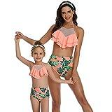 Lutun Familienbadebekleidung, Eltern-Kind-Badeanzug, Bedruckte Badeanzüge Zweiteiliges...