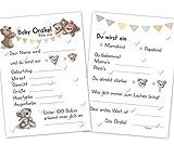 Baby Orakel, das perfekte Babyparty Spiel für Mädchen und Junge, Ratespiel mit 25 Tipp Karten mit...