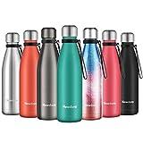 Newdora Trinkflashe Vacuum Isolierte Wasserflasche & Vacuum Flask - 500 ml, 12 Stunden heiß / 24...