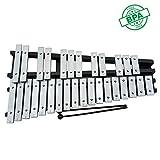 HSJLH 30 Tone Aluminium Piano, Glockenspiel Kinderausbildungsniveau Percussion, Faltbare Tasche mit...