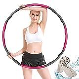 Hoola Hoop,Einstellbar Breit 48–88 cm beschwerter Hoola-Hoop-Reifen für Fitness Erwachsene und...