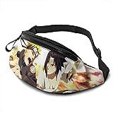 Anime Naruto Uchiha Sasuke Casual Waist Bag Personalized Waist Bags, Running Commute Bag