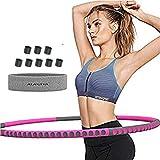 Fitness Hula Hoop Reifen für Erwachsene mit 1,3 kg Gewicht, Wellen und abnehmbare Sektionen...