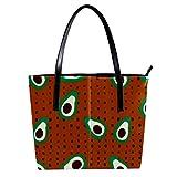 LORVIES Obst-Samen, Vollbild-Umhängetasche, PU Leder und Handtasche für Damen