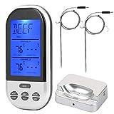 Digitales Sofortablesungs-Fleischthermometer, TS-K32-S Kabelloses Fleischthermometer Doppelsonde...