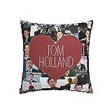Kissenbezüge mit der Aufschrift 'I Love Tom Holland', 45 x 45 cm, quadratisch, für Sofa,...