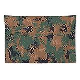 h Digitaler Wandteppich mit Camouflage-Muster, für Wohnzimmer, Schlafzimmer, Wohnzimmer,...