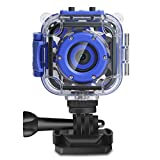 DROGRACE Children Kids Camera Waterproof Digital Video HD Action Camera 1080P Sports Camera...