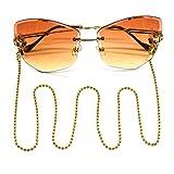 ZoSiP Mode Brillen-Kette Persönlichkeit Brillenkette Edelstahl Brillenkette Brillenband Retro...
