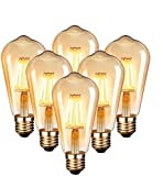 Edison Vintage Glühbirne, Edison LED Lampe Warmweiß E27 4W Retro Glühbirne Vintage Antike...
