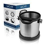 LACARI® Coffee & More Abschlagbehälter – Robuster Abklopfbehälter für Siebträgermaschinen –...