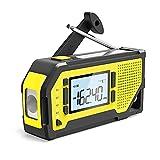 jiande Wind up Taschenlampe Radio, Notfall AM/FM/WB Tragbares Radio mit Taschenlampe, Leselampe, SOS...