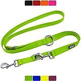DDOXX Hundeleine Nylon, 3fach verstellbar | viele Farben & Größen | für kleine & große Hunde |...