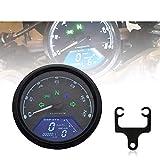 CHUDAN Universal LCD Digital Tachometer 8-18 V-Drehzahlmesser-Kraftstoffanzeige Motorrad Retro...