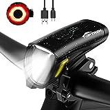 toptrek Fahrradlicht Set 70/30Lux Licht-Modi LED Fahrradbeleuchtung IPX5 Wasserdicht Fahrradlampe...
