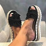 YIYUNKJ Damen Sandalen Casual Damen Sommer Wedge Peep Toe High Heel Plattform Pantoletten Flache...