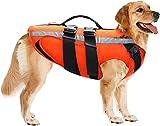 Etechydra Hundeschwimmweste, reflektierend, verstellbar, Rettungsweste für kleine, mittelgroße und...