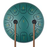 KUD Steel Tongue Drum, 12 Zoll 13 Tone Zungentrommel Ätherische Trommel Stahl Handpan Drum...