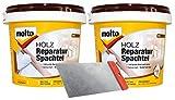 Molto Holz Reparatur Spachtel Set inkl. Metallspachtel 2kg innen aussen