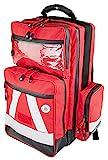 Notfallrucksack Medicus/PRO -M- LEER - rot aus Nylon mit weißen Reflexstreifen & Waterstop