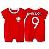 WQJIE Kurzärmeliger Babyoverall, Fußballanzug für Kinder Nr. 9 für Kinder, Baby-Frühlings- und...