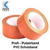5 Rollen Putzerband 30mm x 33m Klebeband PVC Schutzband Putzband Abklebeband Orange - (EUR 0,03636...