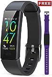 JAZIPO Fitness Armband mit Blutdruckmessung Pulsmesser, Fitness Tracker Uhr Wasserdicht IP68...
