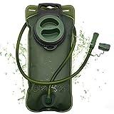 2L Trinkblase, Auslaufsicherer Trinksystem Wasserreservoir mit Beissventil, Geschmacksneutral...