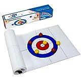 GSFDG Faltbares Tabletop-Curling-Spiel, Tragbare Team-Brettspiele, Tisch-Curling-Spiel Für...