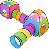 NUBUNI 4 in 1 : Spielzelt Kinderzelt : Babyzelt mit krabbeltunnel : Teiliges Bällebad : Spielzelt...