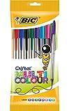BIC Kugelschreiber Cristal Multicolor – Kugelschreiber Set mit 8 verschiedenen Farben für das...