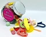 Retro Schlickerglas wie zur Kinderzeit 500g Süßigkeiten im gefüllten Bonbonglas