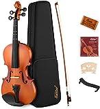 Eastar 1/2 Violine Set für Anfänger Geige Kinder mit Lernpunkt in Fingerplatte mit Inlay mit...