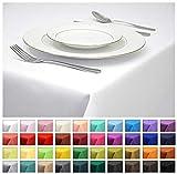 Rollmayer Tischdecke Tischtuch Tischläufer Tischwäsche Gastronomie Kollektion Vivid (Weiß 1,...